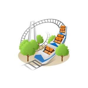 遊園地-ジェットコースター
