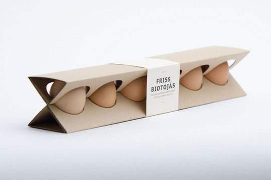 おしゃれなデザインのタマゴのパッケージ