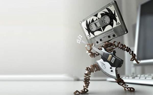 カセットテープのギタリスト