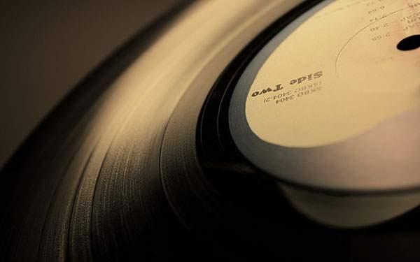 アップで撮影したレコードの写真