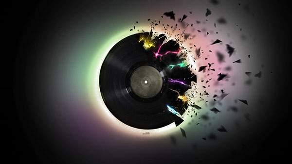 激しく破裂するレコード