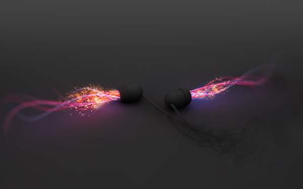 イヤホンから流れ出す光の音楽