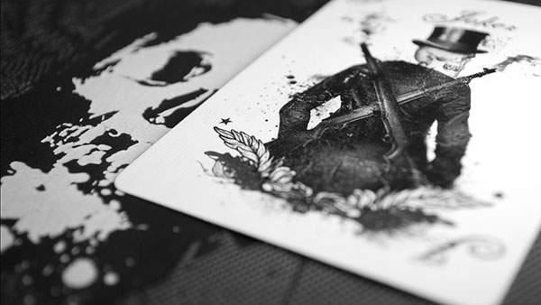 カードと骸骨の写真