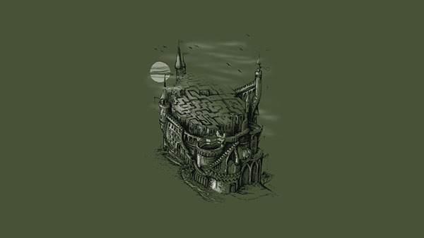 頭蓋骨風のお城