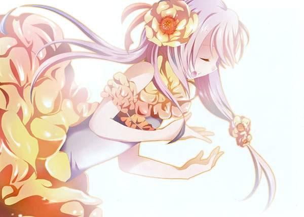 花のドレスのかわいいIA画像