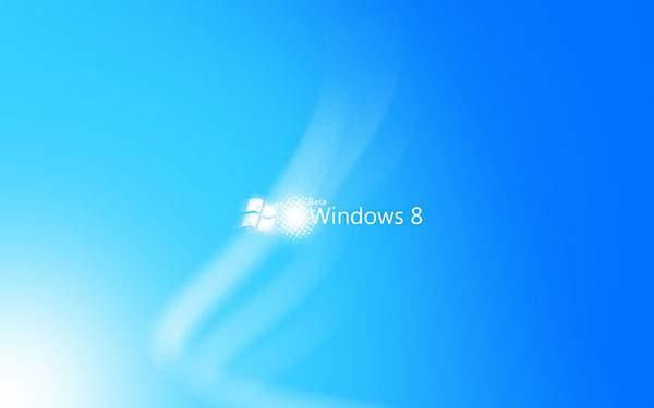 ブルーが爽やかなWindows8の壁紙