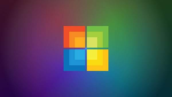 正方形でデザインされたWindowsロゴ