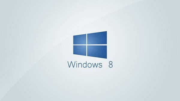 グレーとブルーのシックなWindows8壁紙