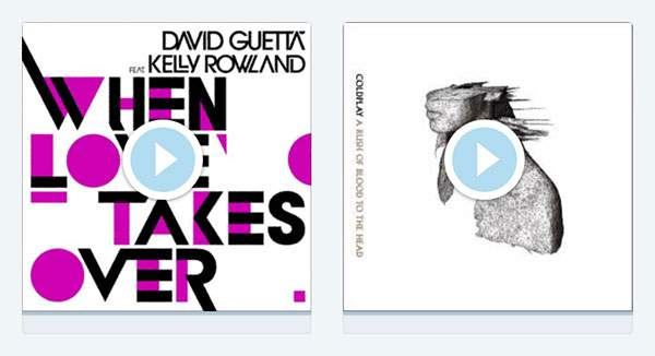 David Guetta「When Love Takes Over」とColdplay「Clocks」