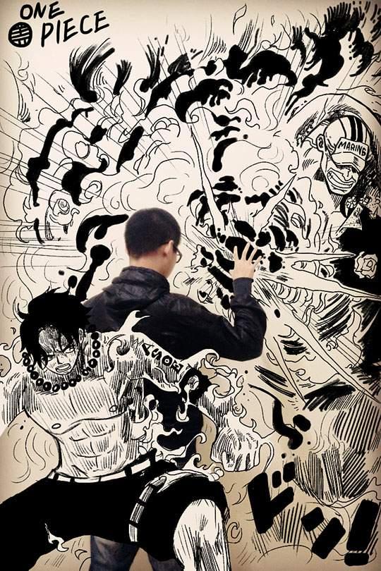 コミックキャラと共演するイラストレーター - 02