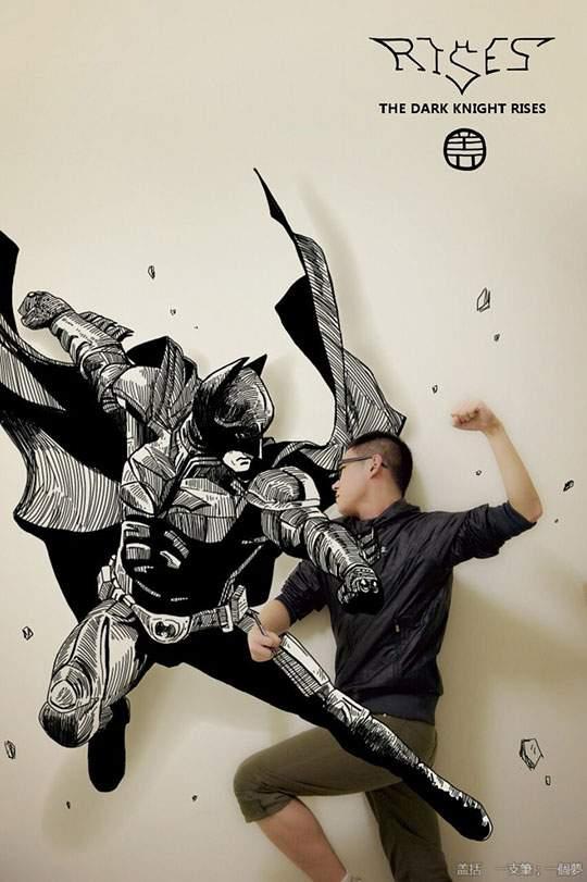 コミックキャラと共演するイラストレーター - 04