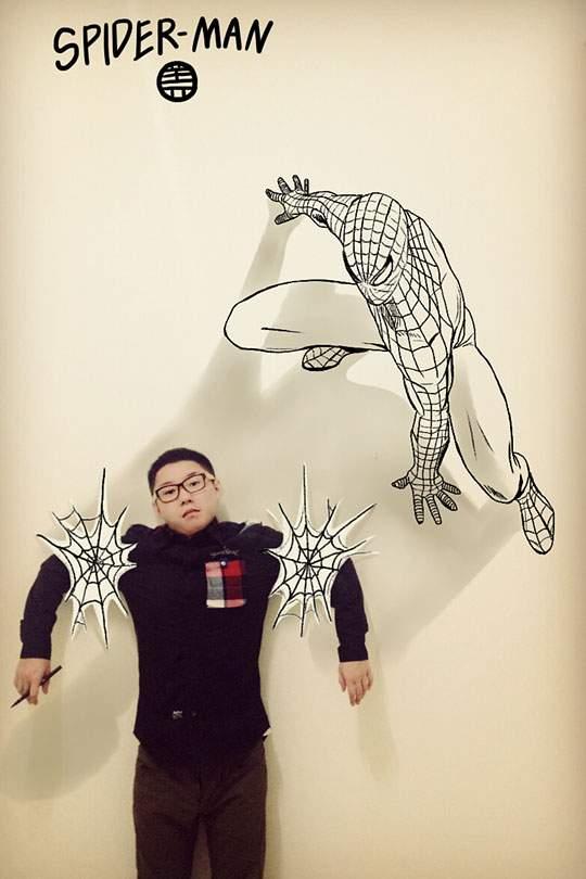 コミックキャラと共演するイラストレーター - 06