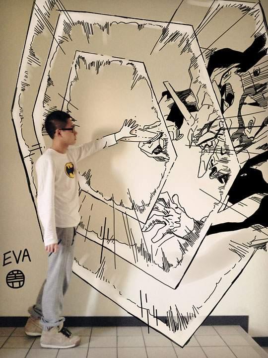 コミックキャラと共演するイラストレーター - 08