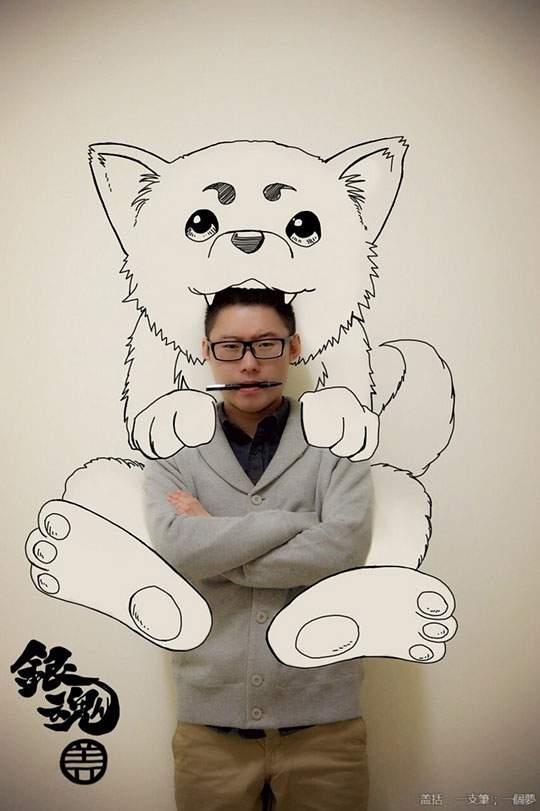 コミックキャラと共演するイラストレーター - 12