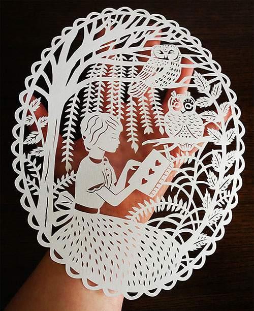 童話の世界を繊細な切り絵で表現したアート作品 - 01