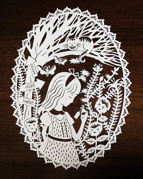 童話の世界を繊細な切り絵で表現したアート作品 - 02
