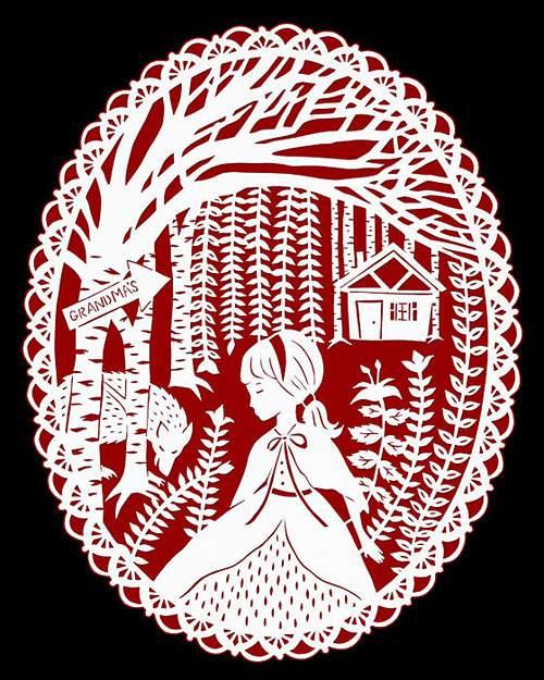 童話の世界を繊細な切り絵で表現したアート作品 - 03
