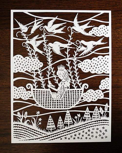童話の世界を繊細な切り絵で表現したアート作品 - 04
