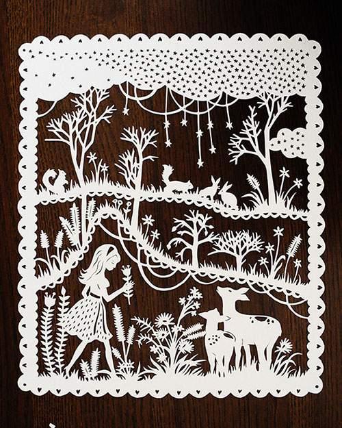童話の世界を繊細な切り絵で表現したアート作品 - 05
