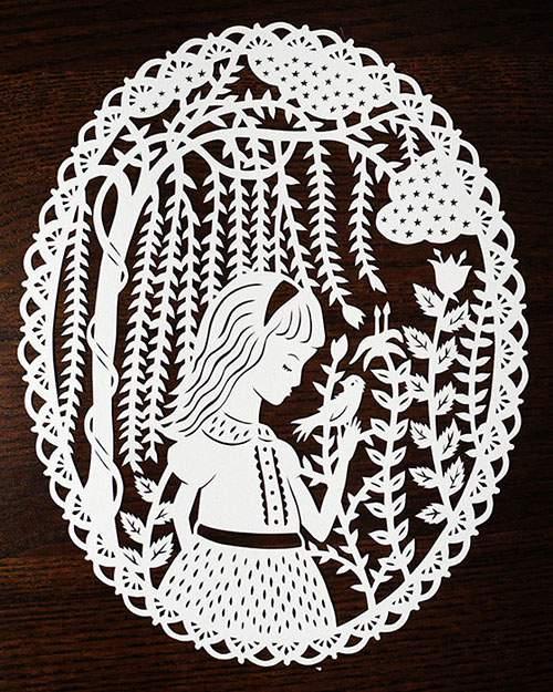 童話の世界を繊細な切り絵で表現したアート作品 - 08