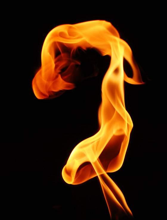 うずを巻く炎の写真テクスチャー