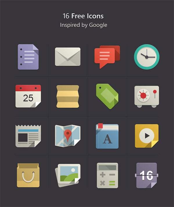 Flat Design Icons Set Vol1