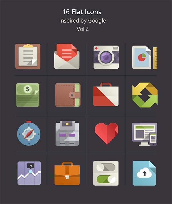 Flat Design Icons Set Vol2