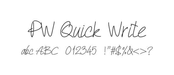 PW Quick Write