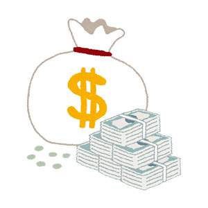 ドル袋のイラスト(お金)