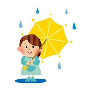 梅雨のイラスト「傘と女の子」