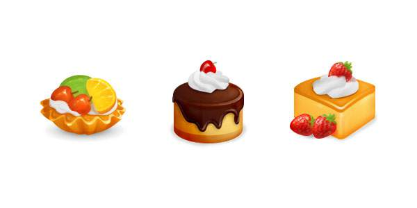 Free Food and Cakes Icon Set