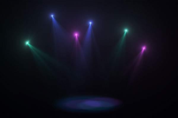 舞台照明やレンズフレアのフリー素材パック - 02
