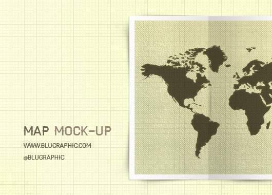 Map Mock-up (Psd)