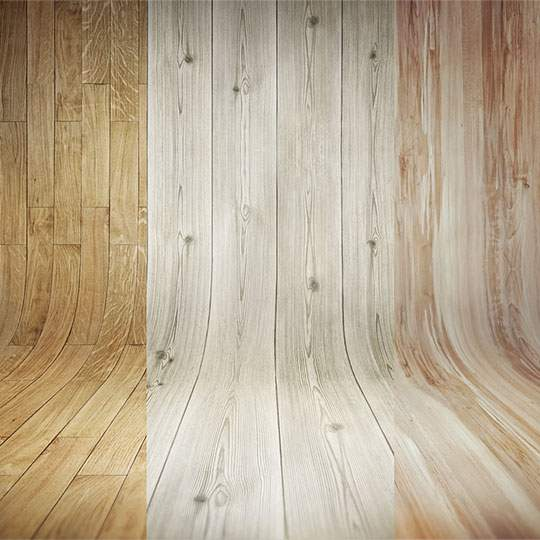 3 Curved Wooden Backdrops Vol.1