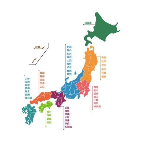 日本地図 - デザインマップ04