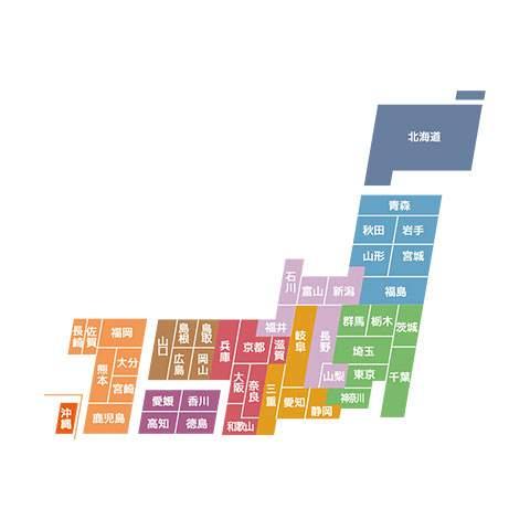日本地図 - デザインマップ03