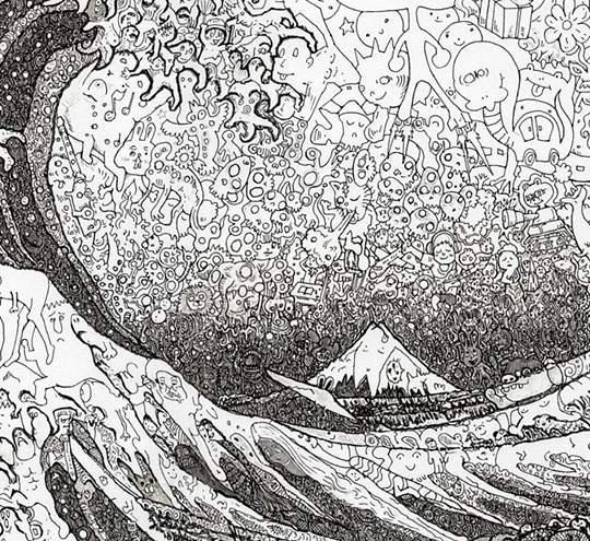 ポップなキャラの集合で描かれたリアルなイラストレーション - 10