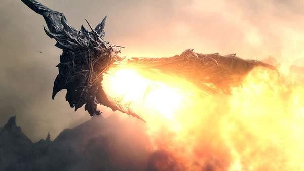 炎を吐くリアルなドラゴンの壁紙