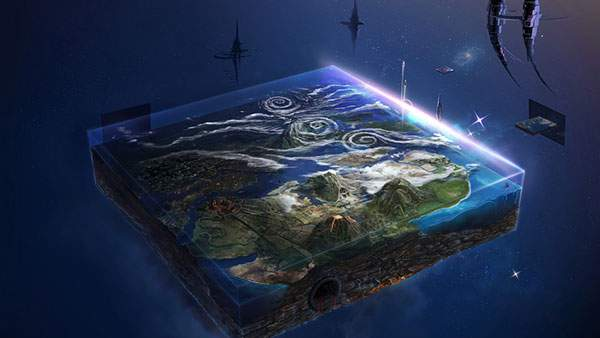 四角く切り取った地球の画像