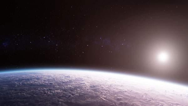 輝く星と地球