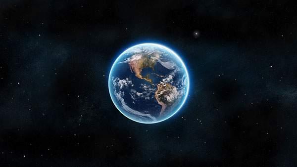 美しいブルーに輝く地球の壁紙画像
