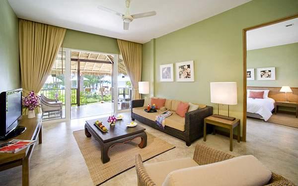 グリーンのナチュラルな雰囲気の部屋