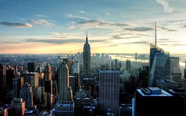 朝焼けのニューヨークシティー