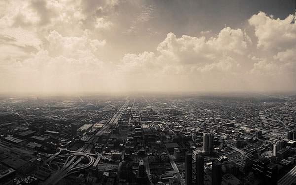 大空と地平線