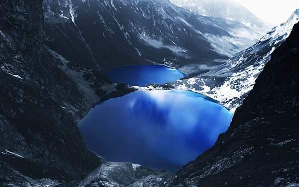 美しいラグーン(潟湖)の写真