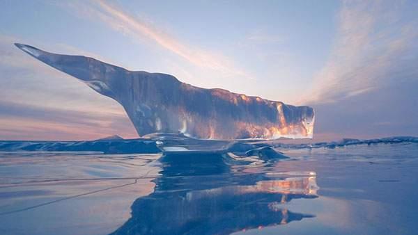 自然が作った氷の彫刻
