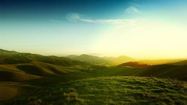 美しい緑の丘の高画質壁紙