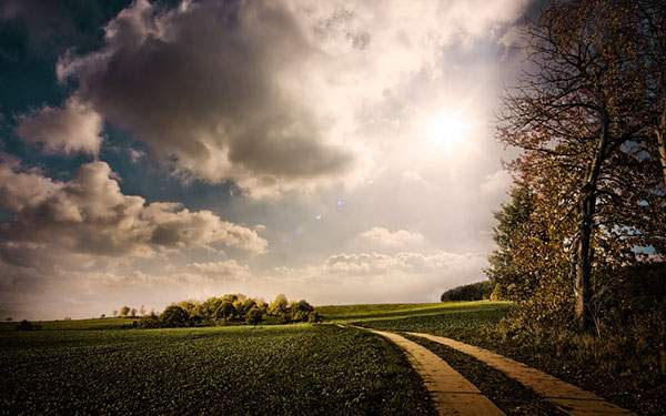 道と空と対応の壁紙画像