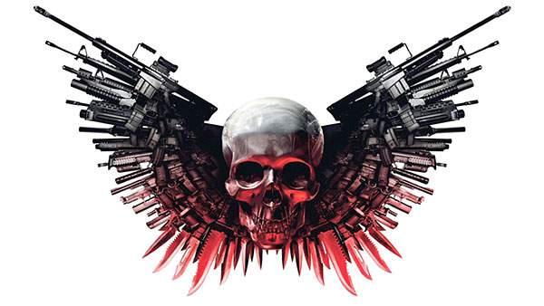 銃とナイフと骸骨