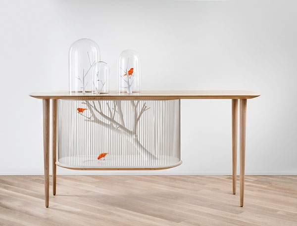 鳥かごとテーブルを合体させた素敵インテリア - 01